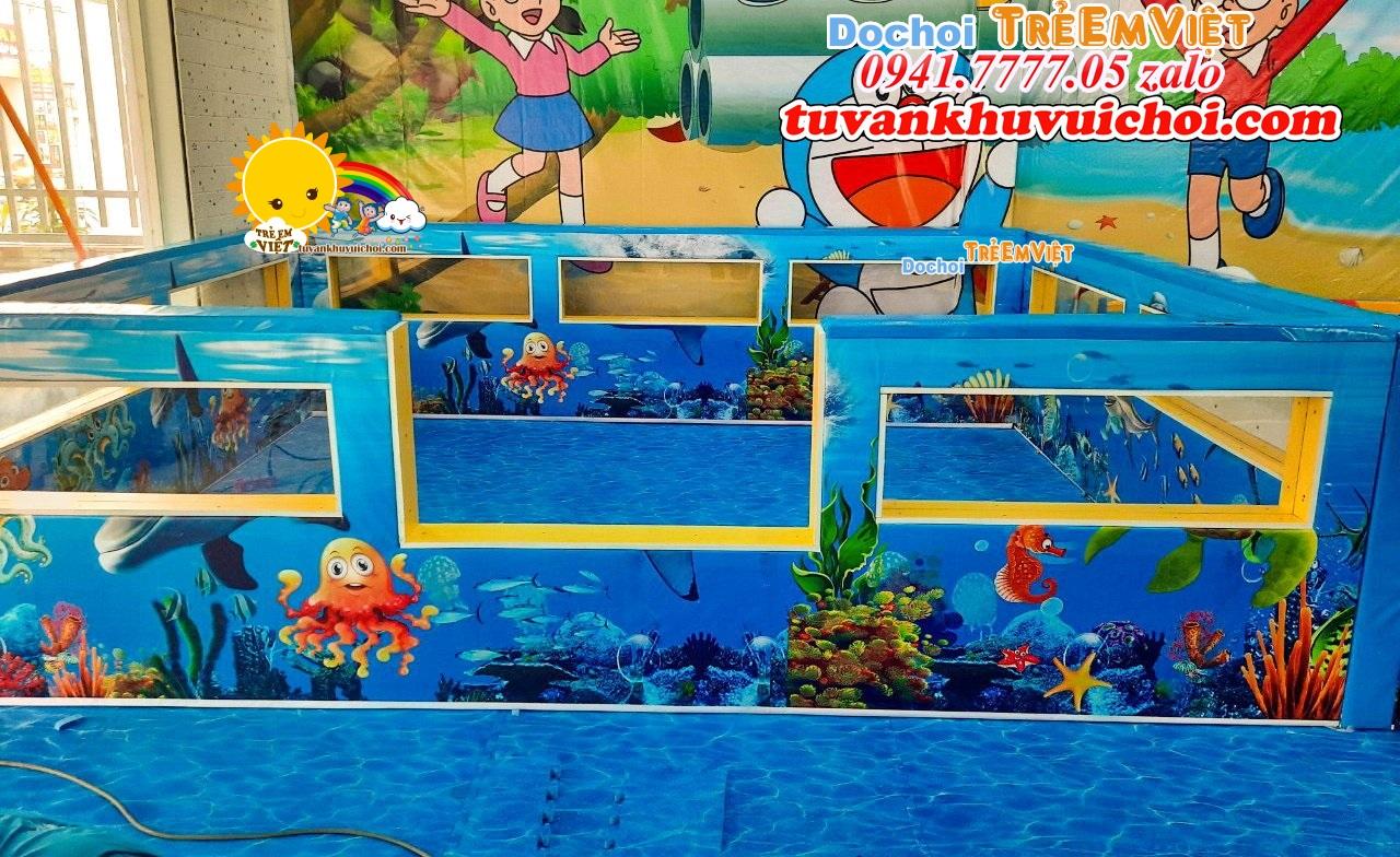 Hồ hạt xứ trong khu vui chơi liên hoàn đại dương