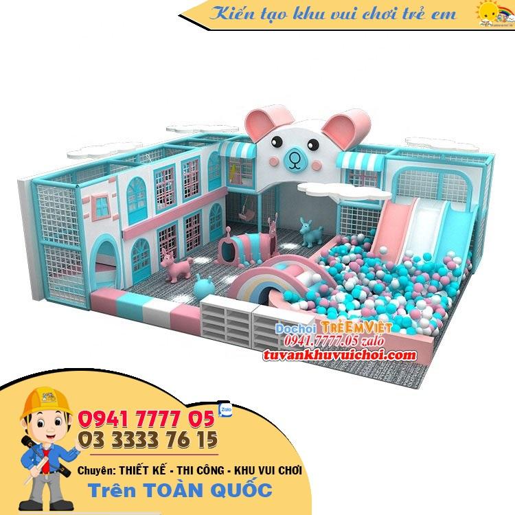 Thiết kế khu vui chơi trẻ em theo chủ đề chú mèo.