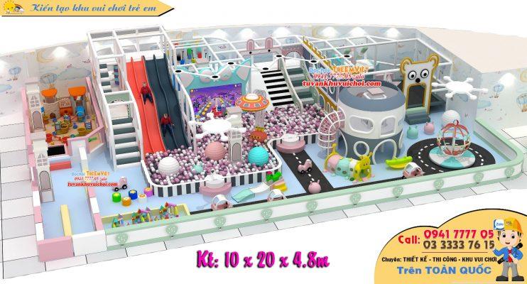 Mẫu khu vui chơi trẻ em 3 tầng khá đẹp và nhiều trò chơi.