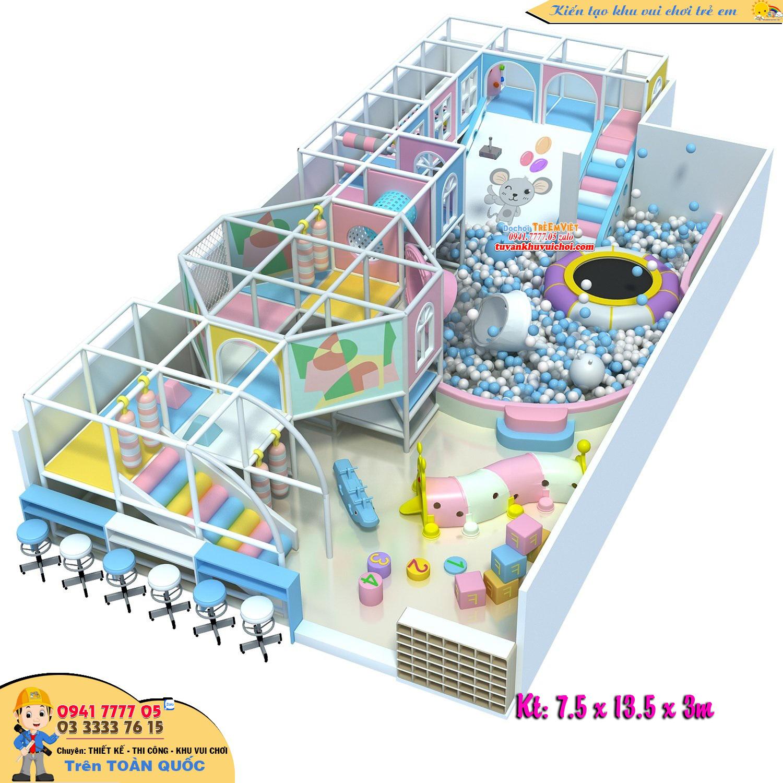 Thiết kế nhà liên hoàn theo chủ đề chú chuột nhắc, diện tích 150m2.