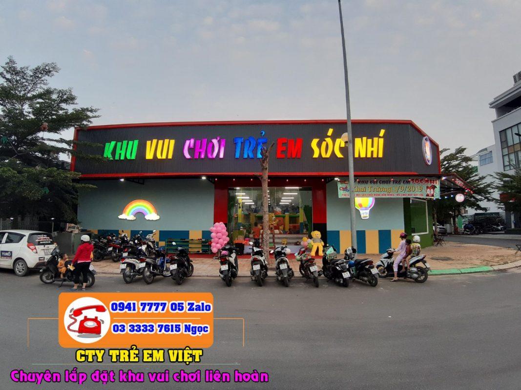 Bảng quảng cáo khu vui chơi trẻ em đẹp.
