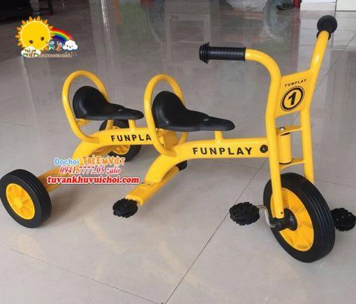 Xe đạp 3 bánh 2 chỗ ngồi (5)