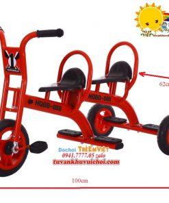 Xe đạp 3 bánh 2 chỗ ngồi ở khu vui chơi trẻ em (2)