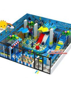 khu vui chơi liên hoàn trong nhà 100m2.