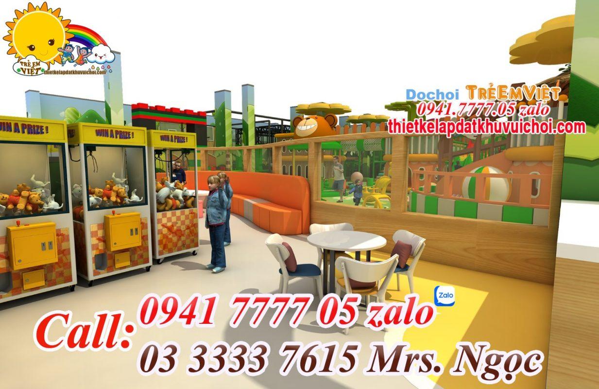 Chủ đề thiết kế khu vui chơi liên hoàn trong nhà