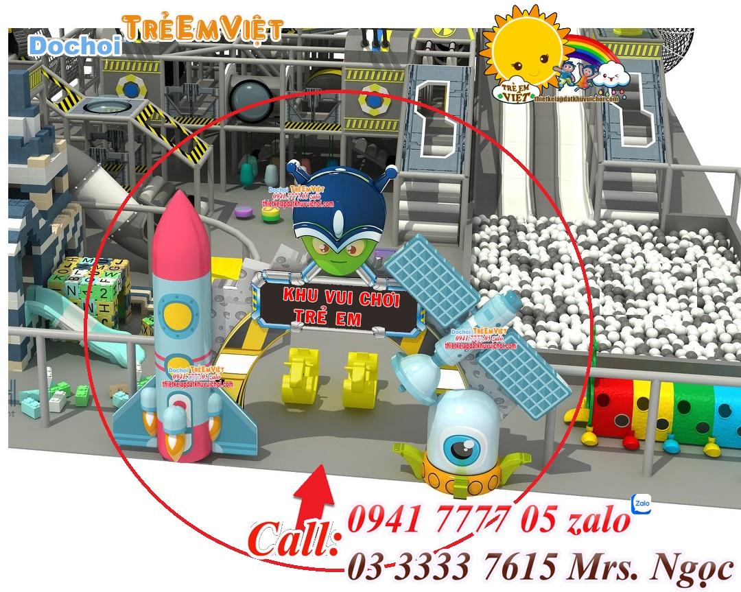 Thiết kế 3D cổng của khu vui chơi trẻ em.