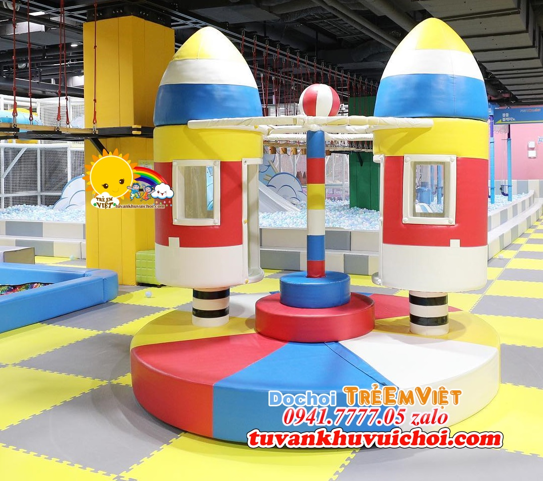 Hình ảnh mâm xoay tên lửa ở khu vui chơi RẤT ĐẸP