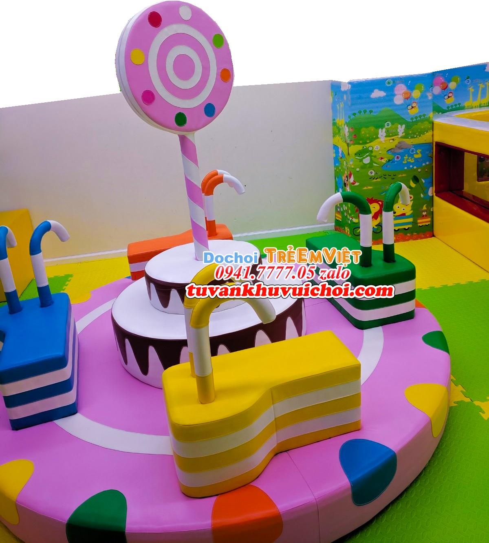 Mâm xoay kẹo ngoài công trình khu vui chơi trẻ em RẤT ĐẸP
