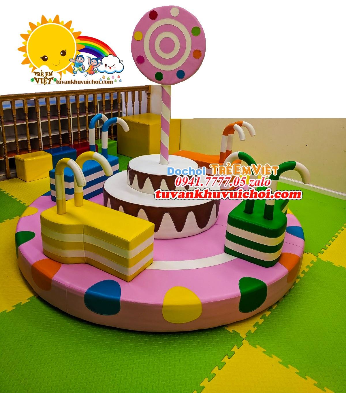 Hình ảnh mâm xoay kẹo ở khu vui chơi trẻ em