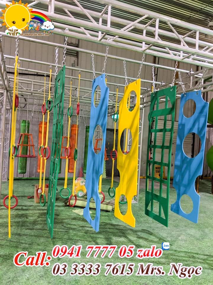 khu vui chơi vận động ninja course.