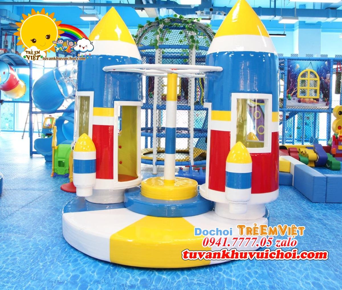 Mâm xoay tên lửa được chọn lựa SETUP cho khu vui chơi liên hoàn tone đại dương.