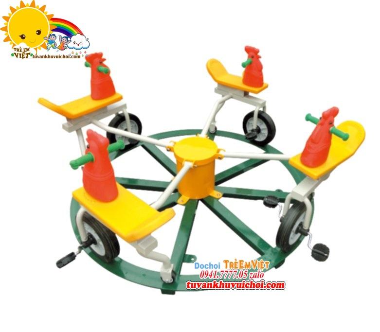Mâm xoay xe đạp khu vui chơi trẻ em