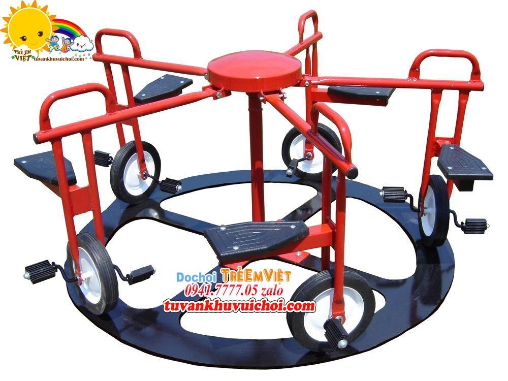 Mâm xoay xe đạp được sơn tĩnh điện màu đỏ.