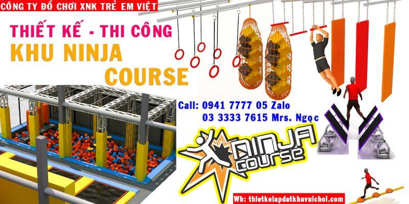 khu vui chơi vận động Ninja course