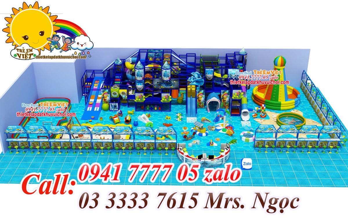 Mô hình khu vui chơi trẻ em trong nhà.
