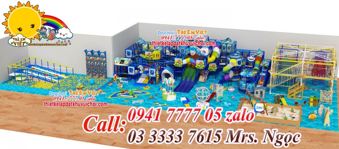 Thiết kế mô hình khu vui chơi trẻ em trong nhà.