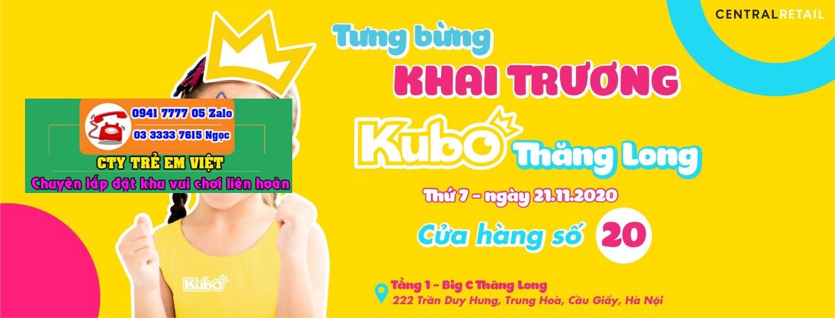 Poster quảng cáo khai trương khu vui chơi KUBO tại Big C Thăng Long
