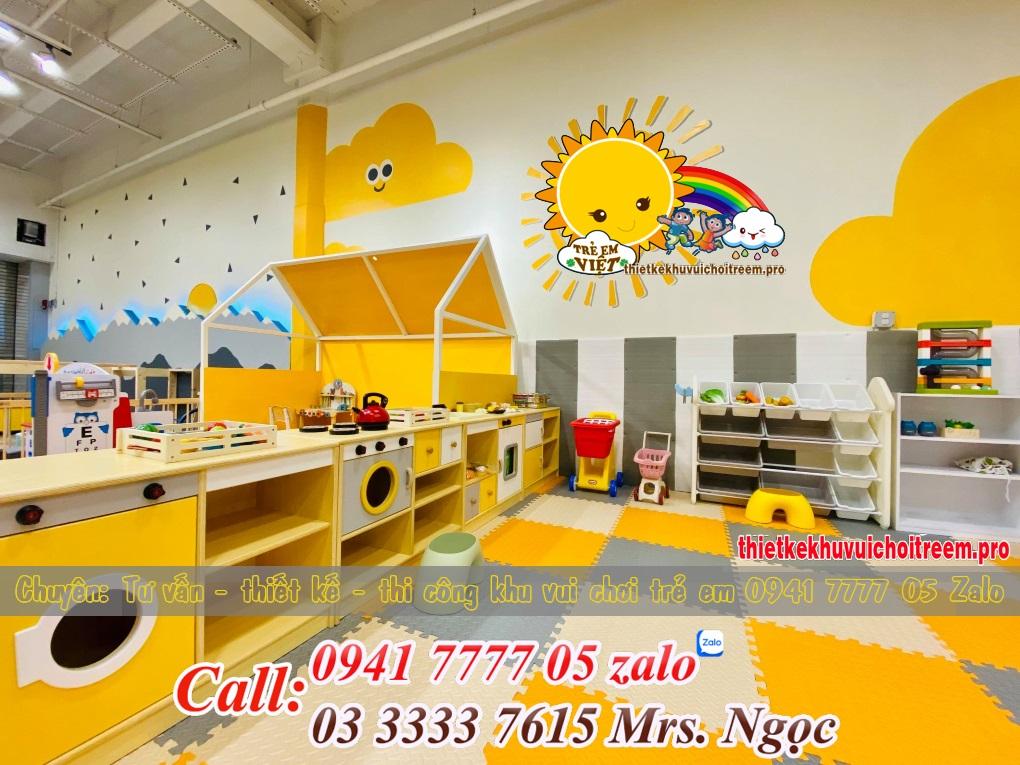 Thiết kế thi công khu vui chơi trẻ em trong nhà