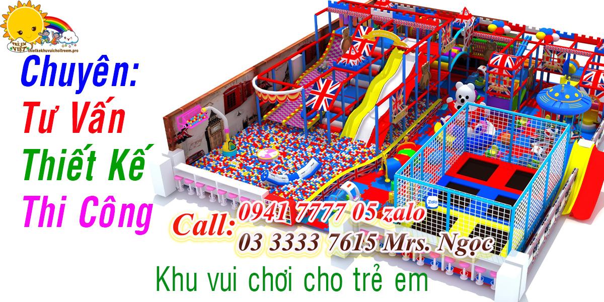 Thiết kế thi công lắp đặt khu vui chơi trẻ em