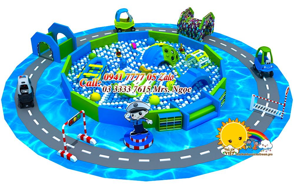 khu vui chơi liên hoàn kết hợp an toàn giao thông